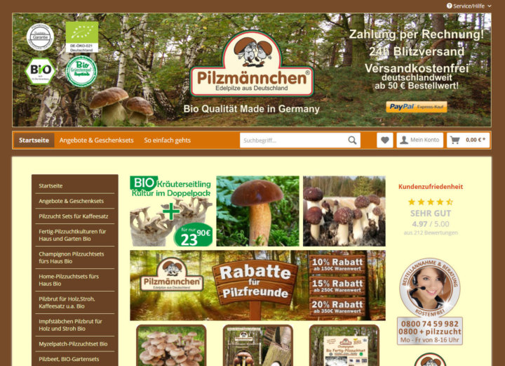Der Pilzmännchen Shop
